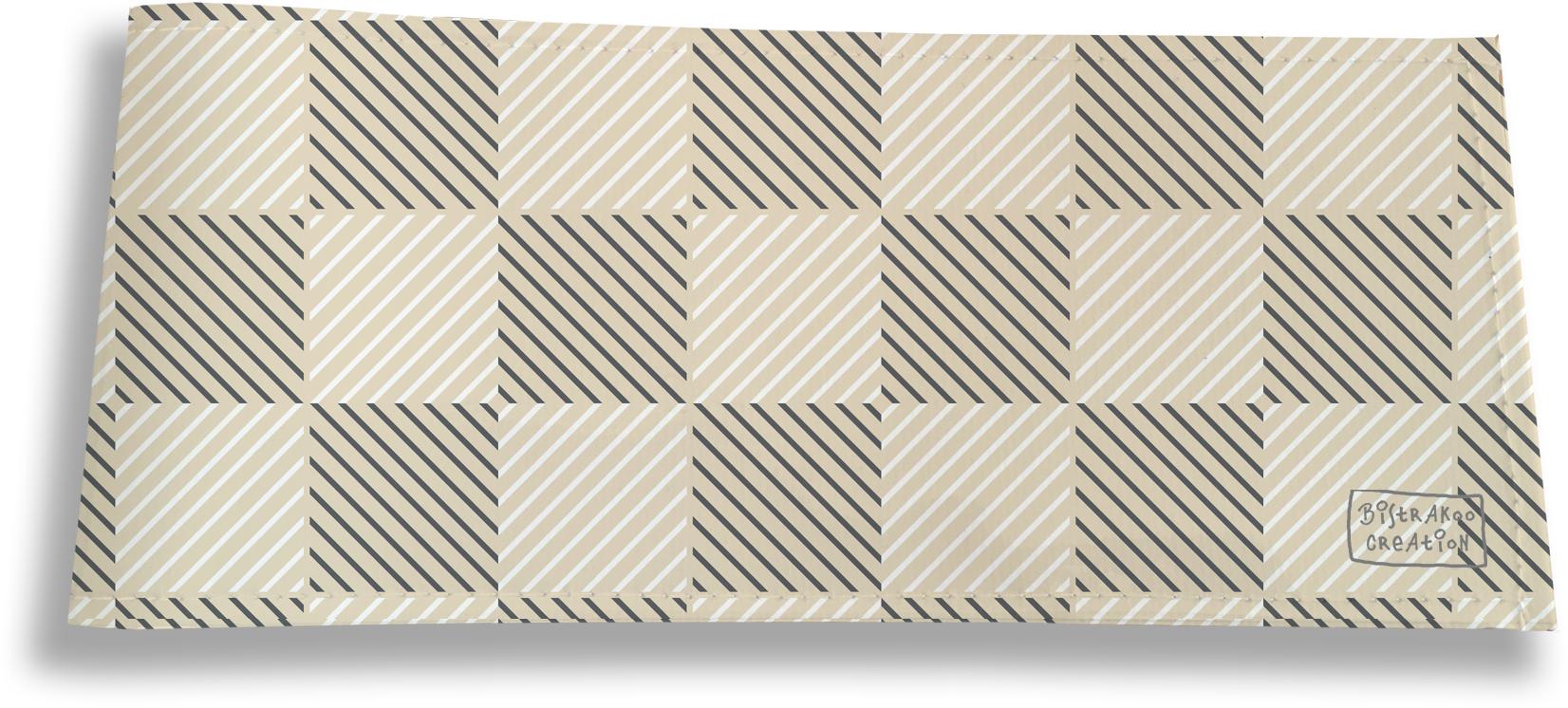 Porte-chéquier long horizontal pour homme motif Damier graphique beige 2111
