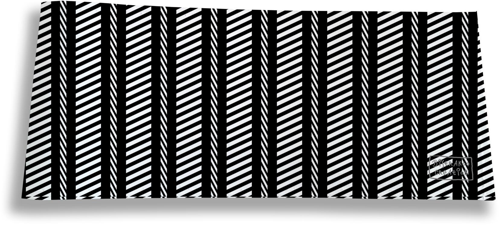 Porte-chéquier long horizontal pour homme motif Graphique noir et blanc 2163