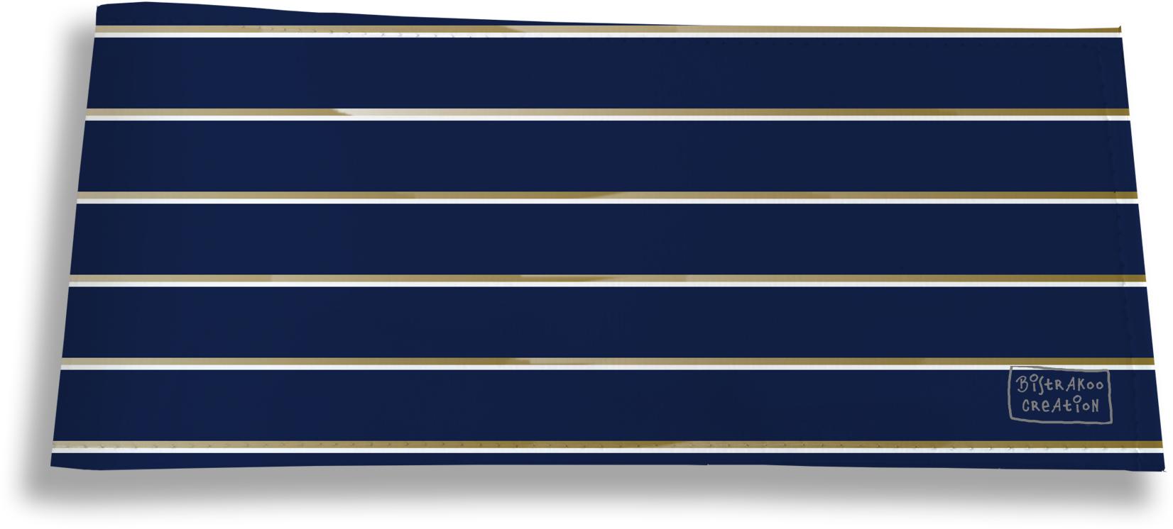 Porte-chéquier long horizontal pour homme motif Lignes fond bleu marine 2100