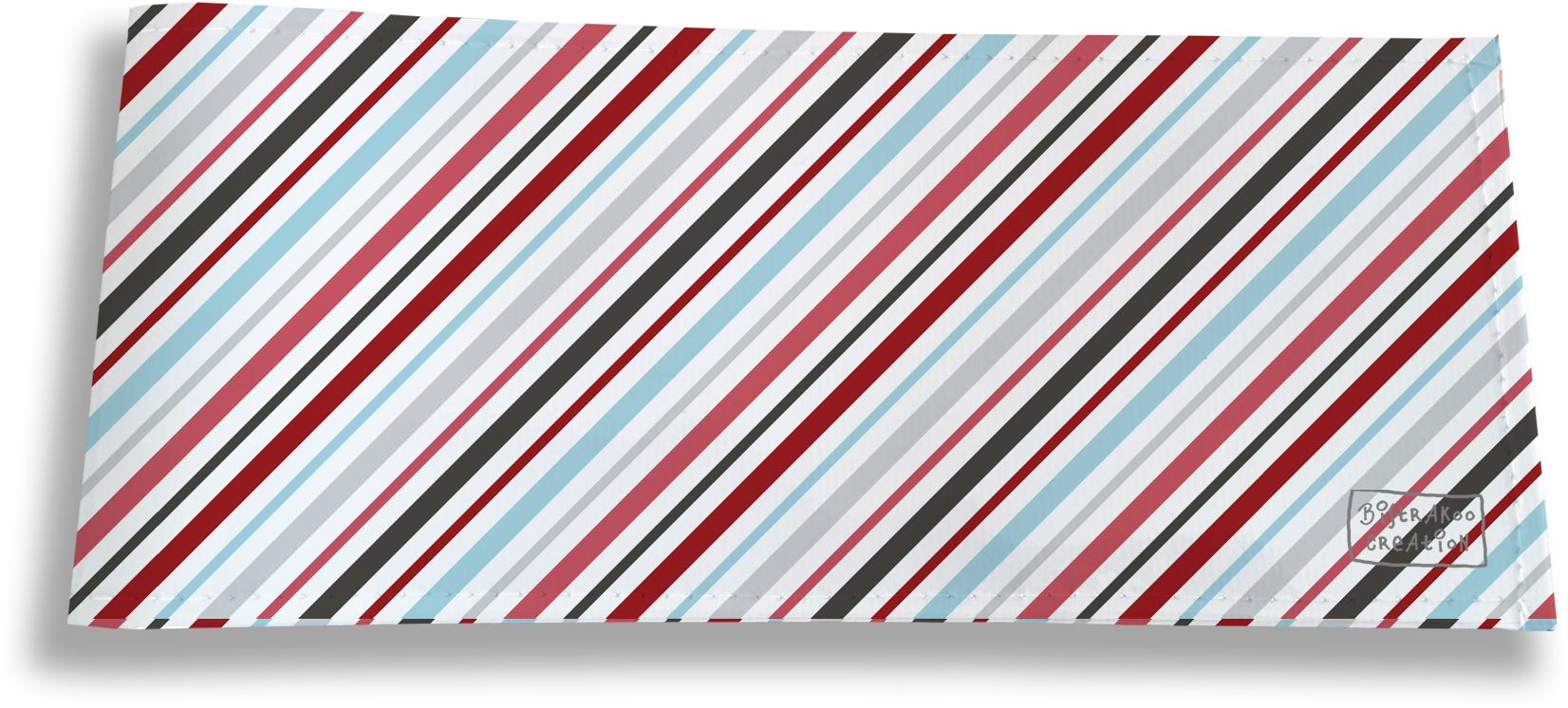 Porte-chéquier long horizontal pour homme motif Lignes transversales multicolores 2146