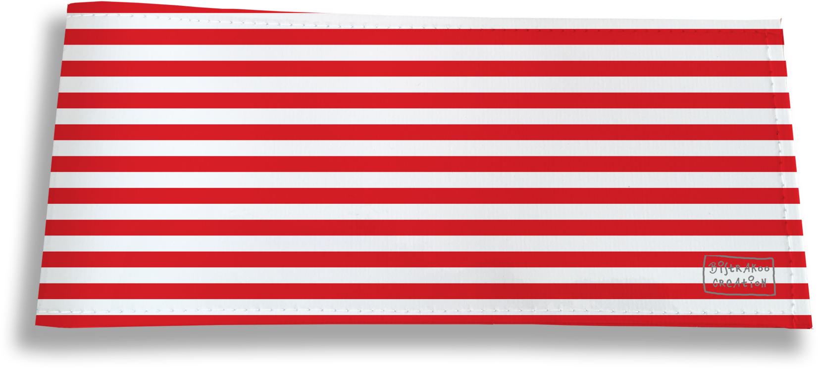 Porte-chéquier long horizontal pour homme motif Marinière rouge 2124
