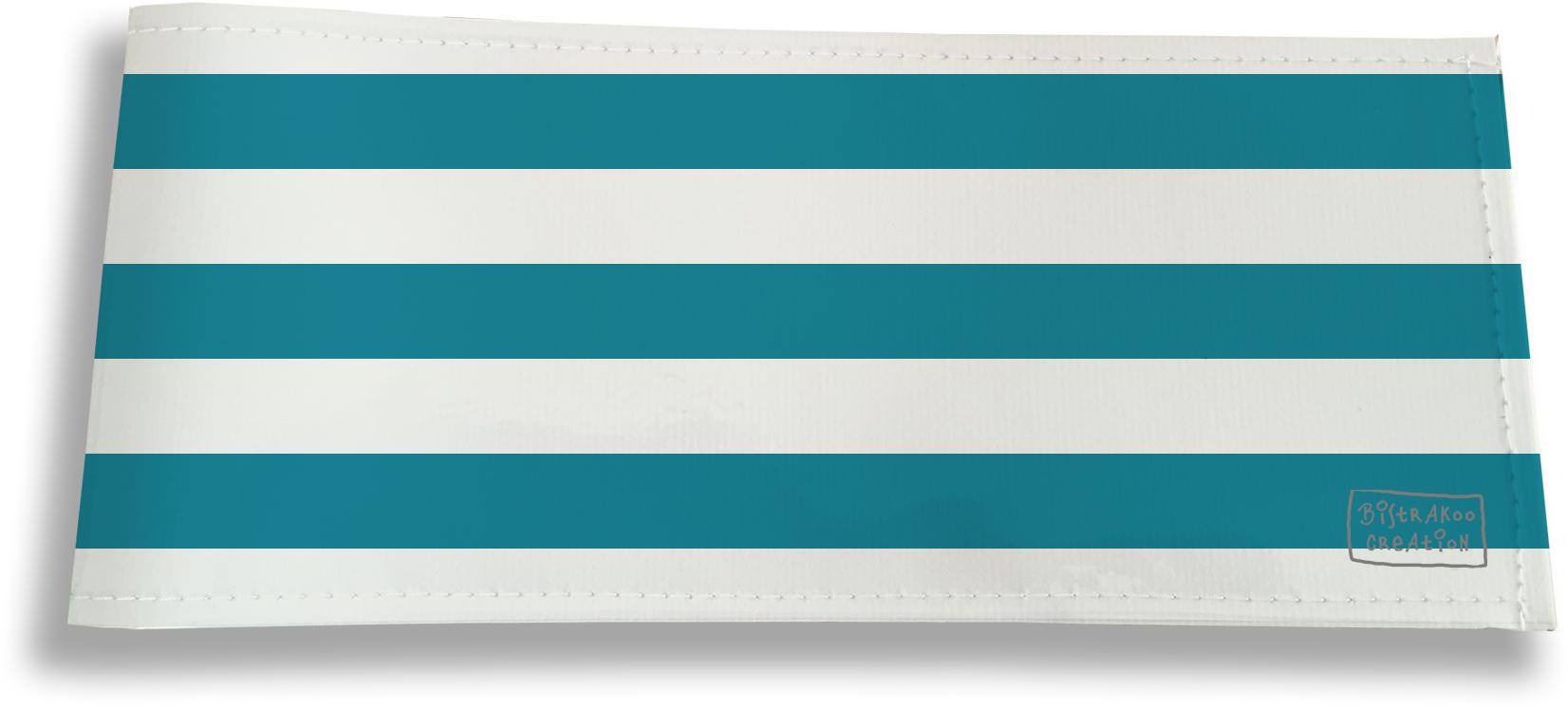 Porte-chéquier long horizontal pour homme motif Marinière vertge 3008