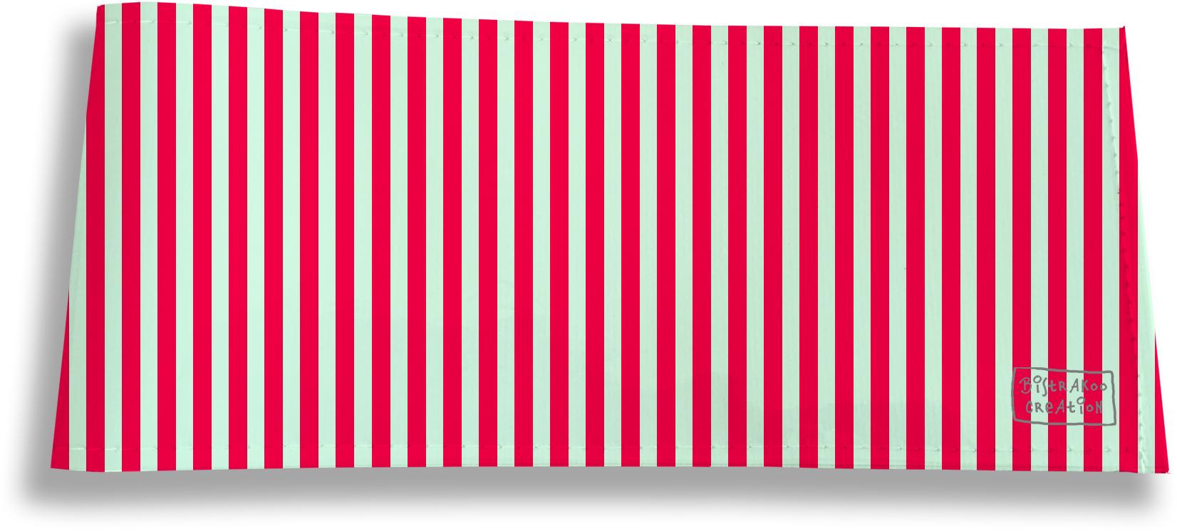 Porte-chéquier long horizontal motif Lignes verticales rouges 2384