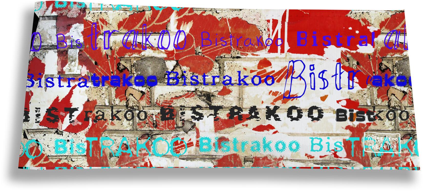 Porte-chéquier long horizontal motif Street art Bistrakoo 2289