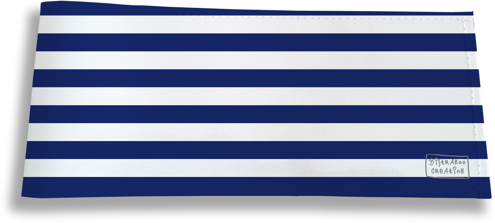 Porte-chéquier long horizontal motif Marinière bleu marine 2377