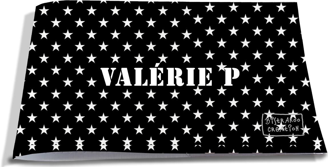 Porte-chéquier restaurant personnalisable pour femme motif Etoiles blanches fond noir P2092-2015