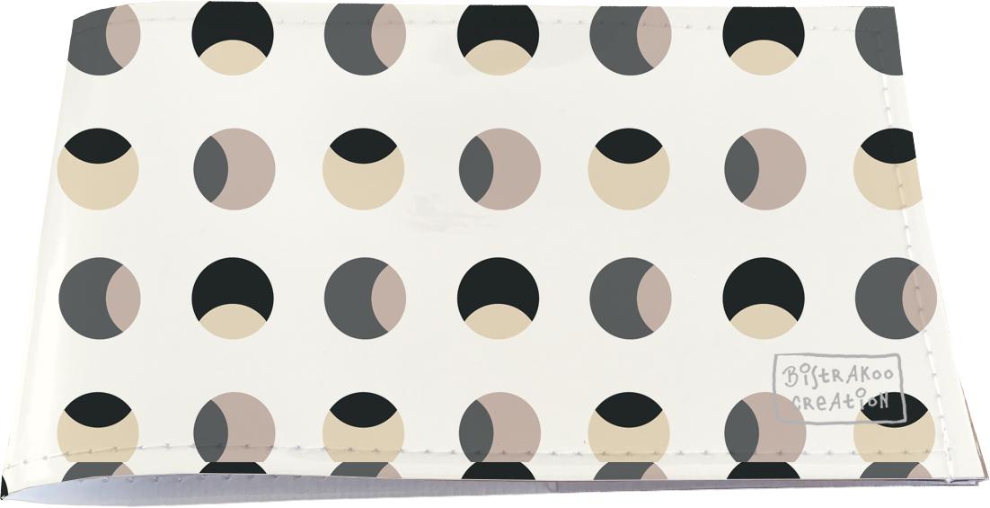 Porte-chéquier restaurant pour homme motif classique Billes fond beige PCR2108
