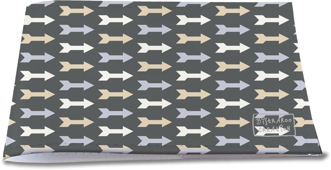 Porte-chéquier restaurant pour homme motif classique Flèches fond gris PCR2110