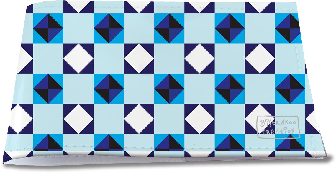 Porte-chéquier restaurant pour homme motif classique Formes géométriques PCR2114
