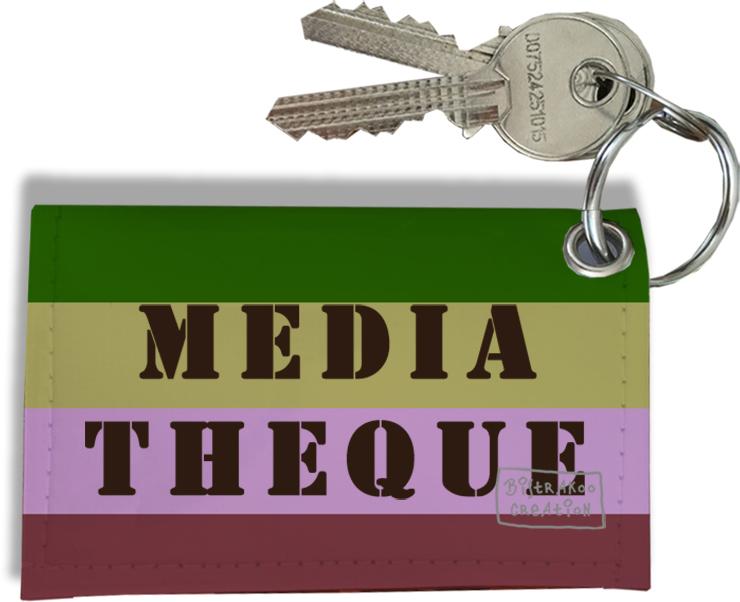 Porte-clés Carte de médiathèque, Etui Porte-clés Carte de médiathèque Réf. 954