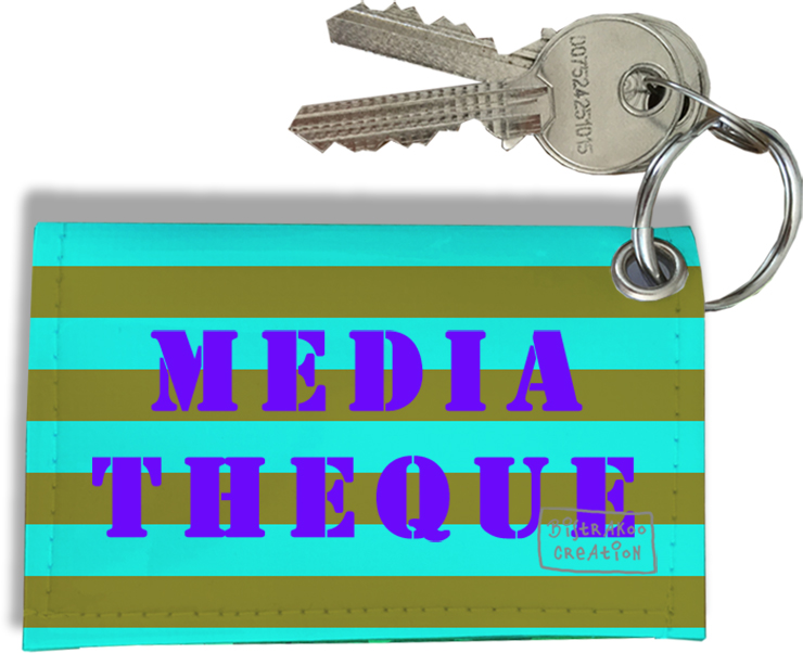 Porte-clés carte de Médiathèque, Etui porte-clés carte de Médiathèque Réf. 955