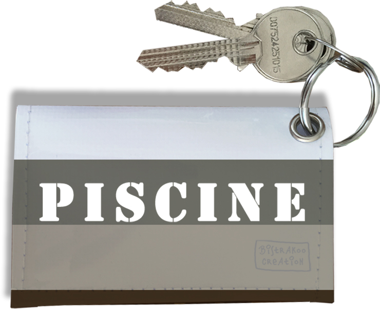 Porte-clés Carte de Piscine, Etui Porte-clés Carte de Piscine Réf. 939