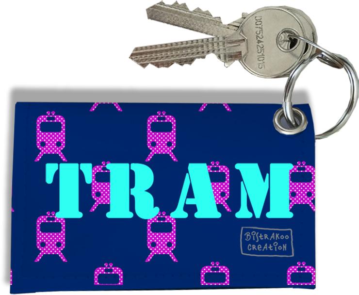 Porte-clés Carte de Tram, Etui Porte-clés Carte de Tram (Bleu)