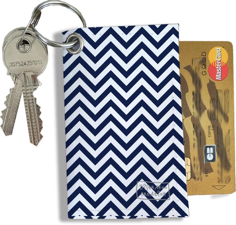 Porte-clés Pratique pour Cartes & Photos Homme, Etui Porte-clés et Cartes (2102)