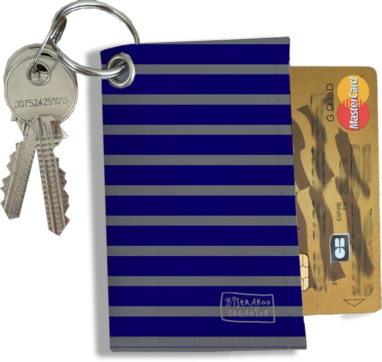Porte-clés Pratique pour Cartes & Photos Homme, Etui Porte-clés et Cartes (2174)