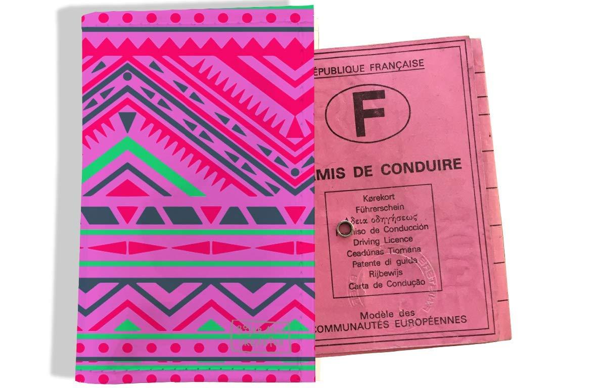Protège permis de conduire pour femme motif Aztèque multicolore 2514