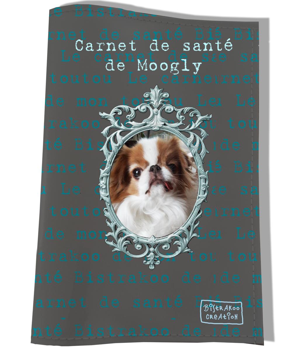 Protège Carnet de Santé personnalisé pour chien Gris