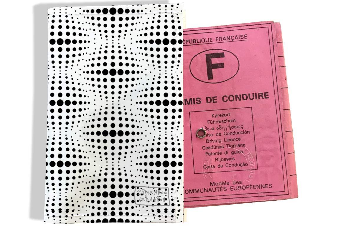 Protège permis de conduire pour homme motif Cinétique noir 2506