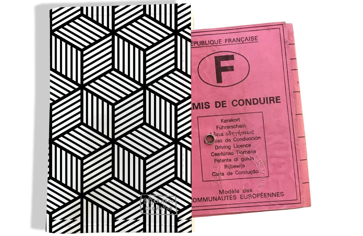Protège permis de conduire pour homme motif Graphique noir 2164