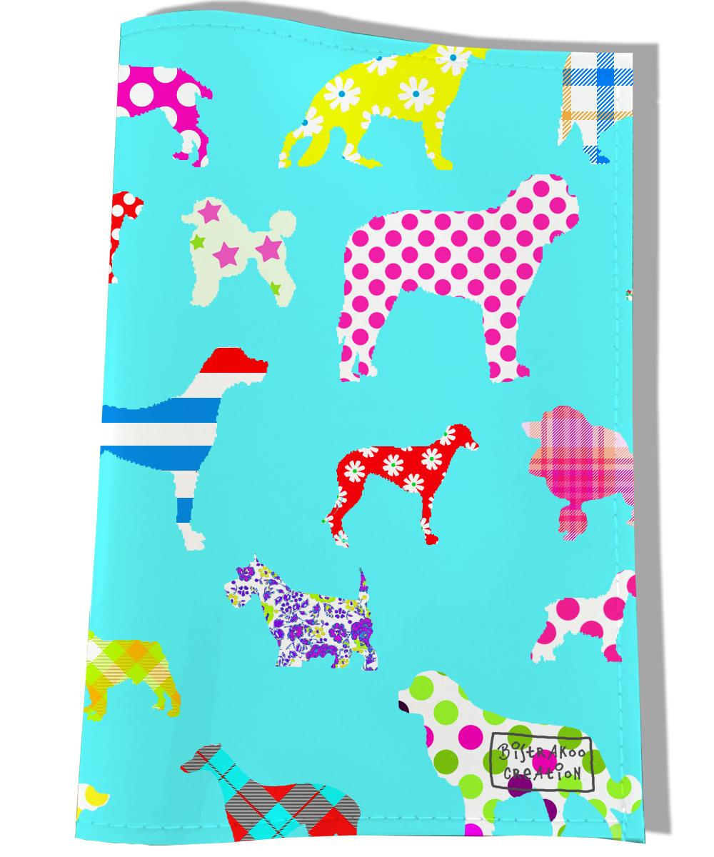 Protège Carnet de Santé pour chien motif chien motifs colorés