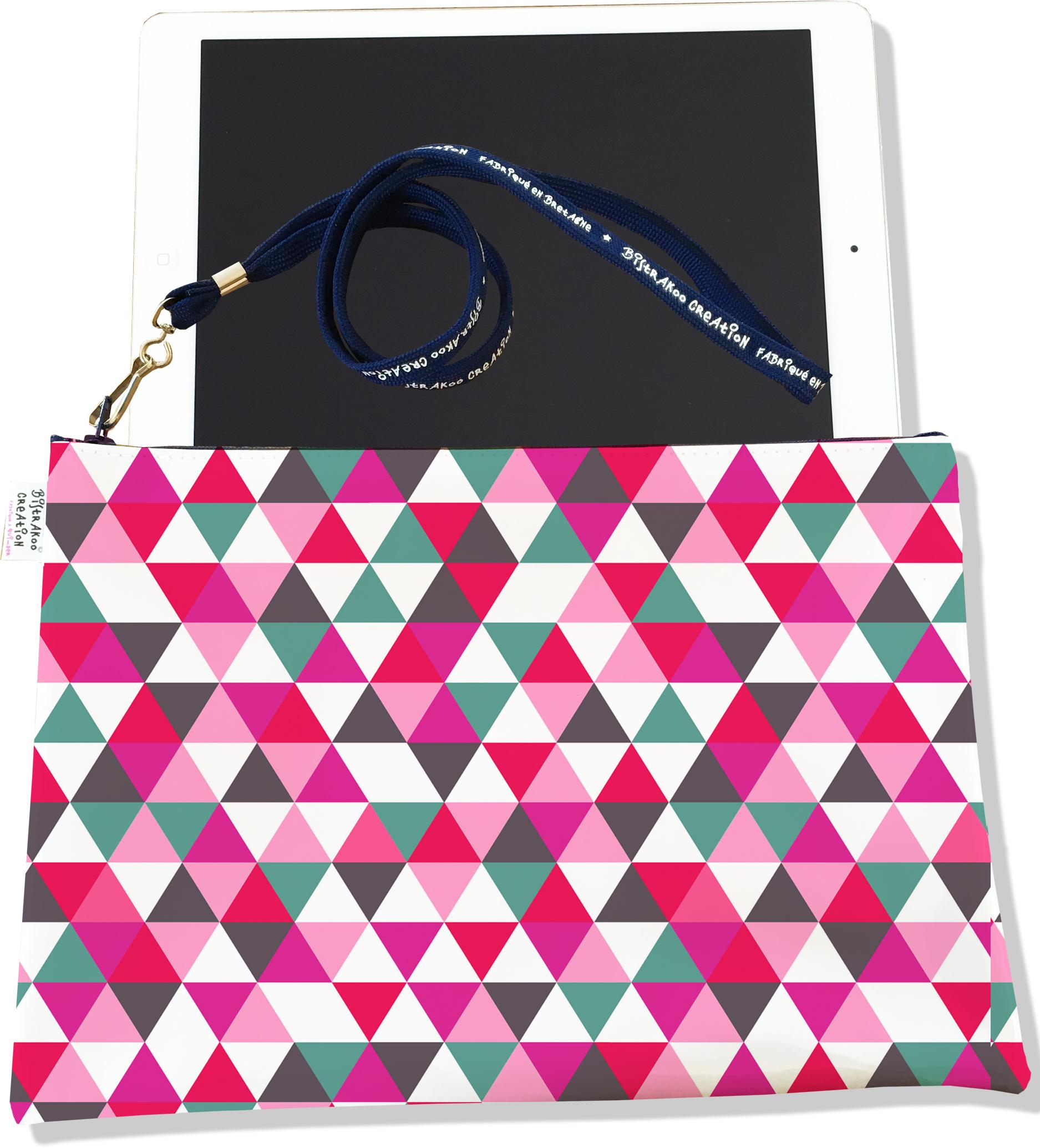 Housse pour tablette pour femme motif Graphique multicolore 2249-2015