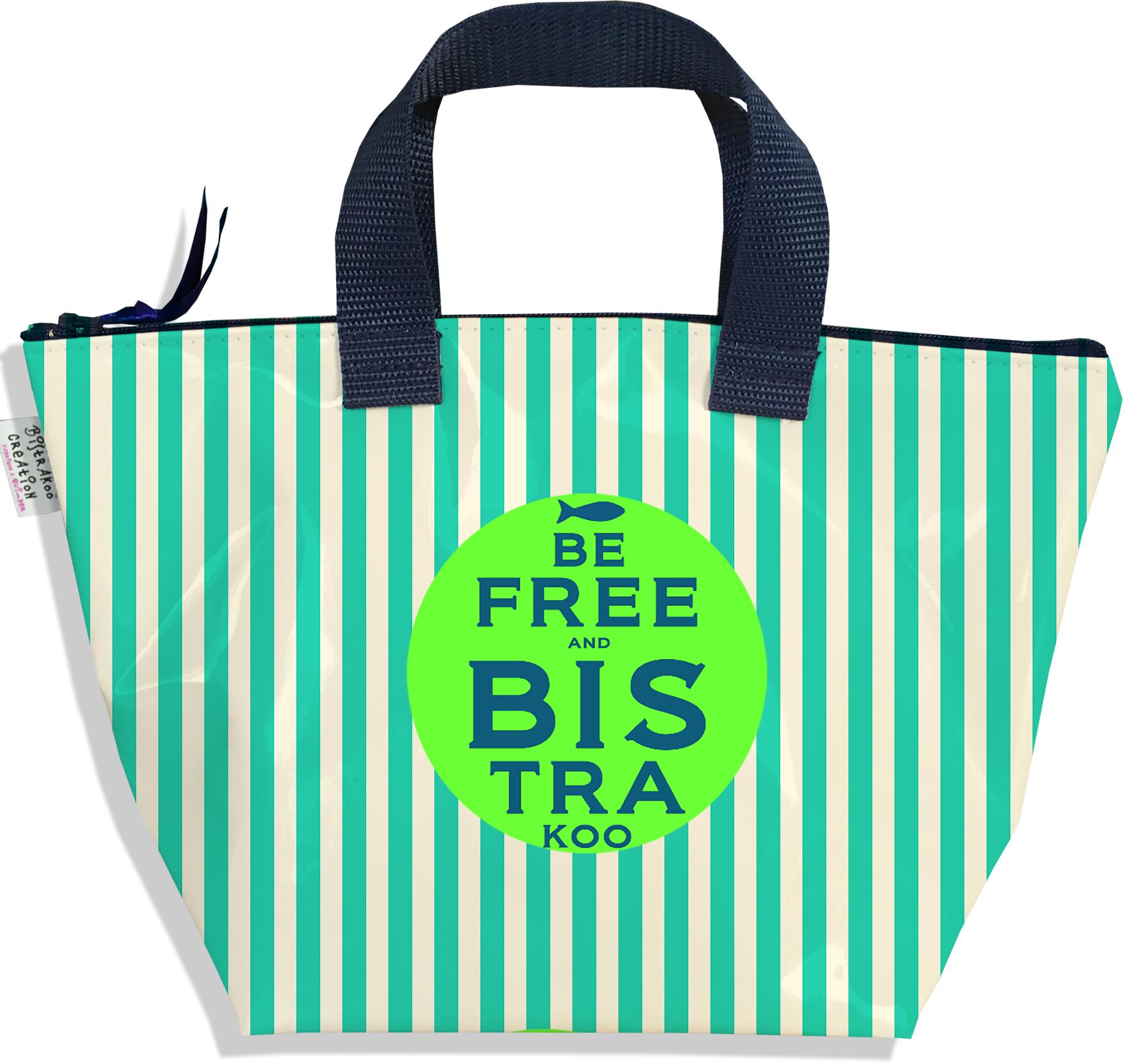 Sac à main zippé pour fille motif Be Free vert 2338-2016