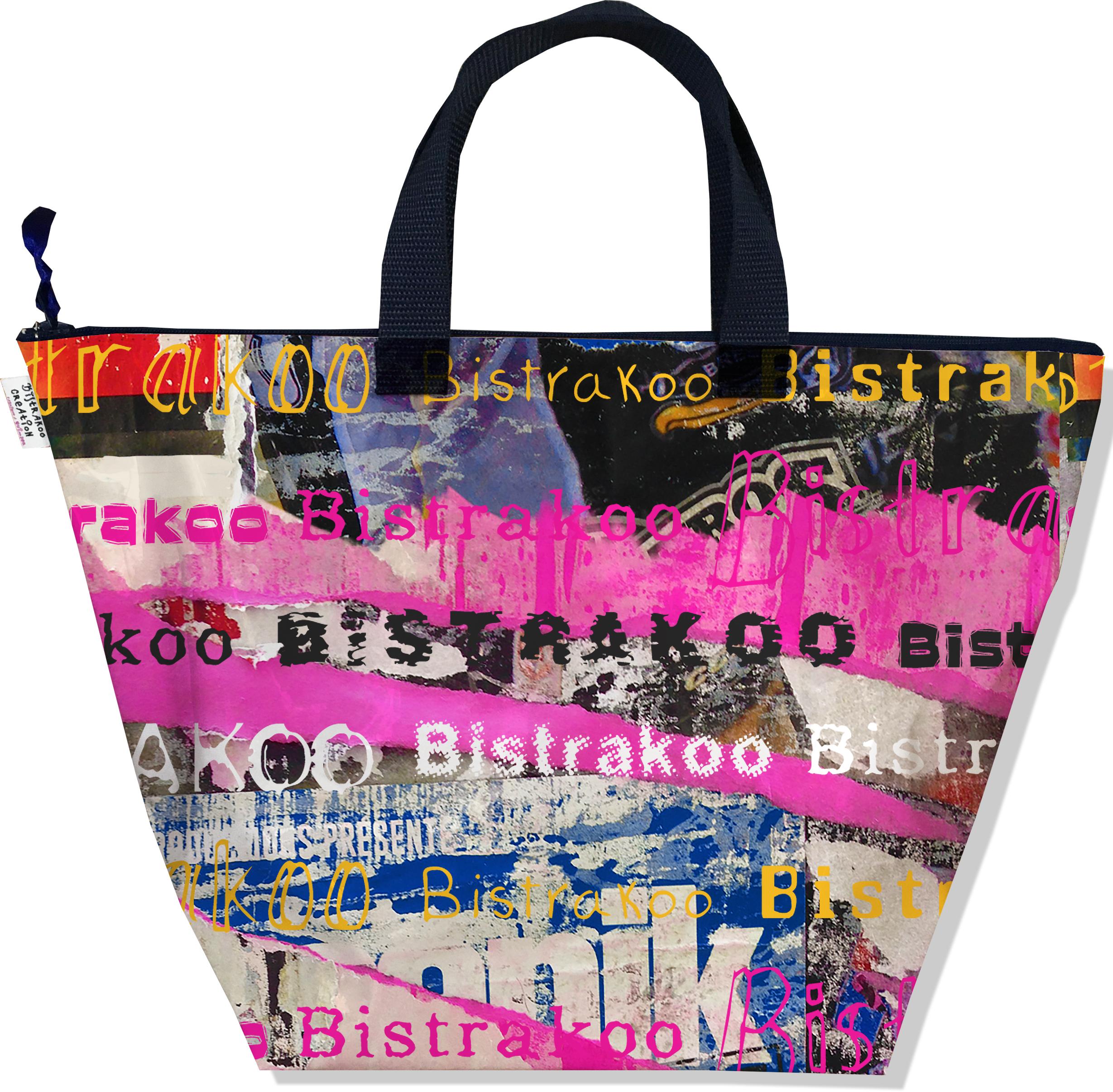 Sac à main zippé pour femme motif Street art Bistrakoo 2290