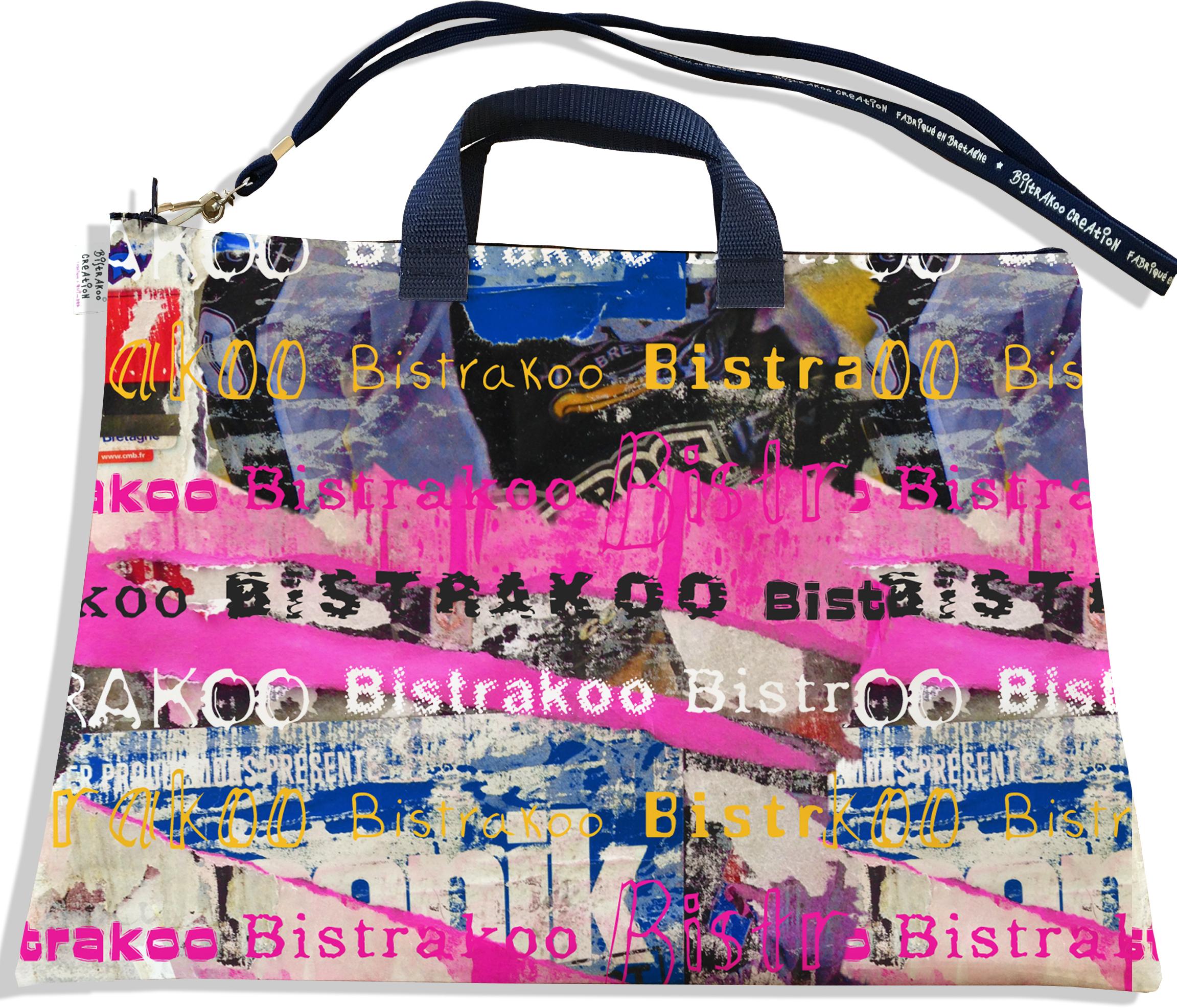 Sacoche ordinateur portable 11 & 13 pouces pour femme motif Street art multicolore Bistrakoo 2290