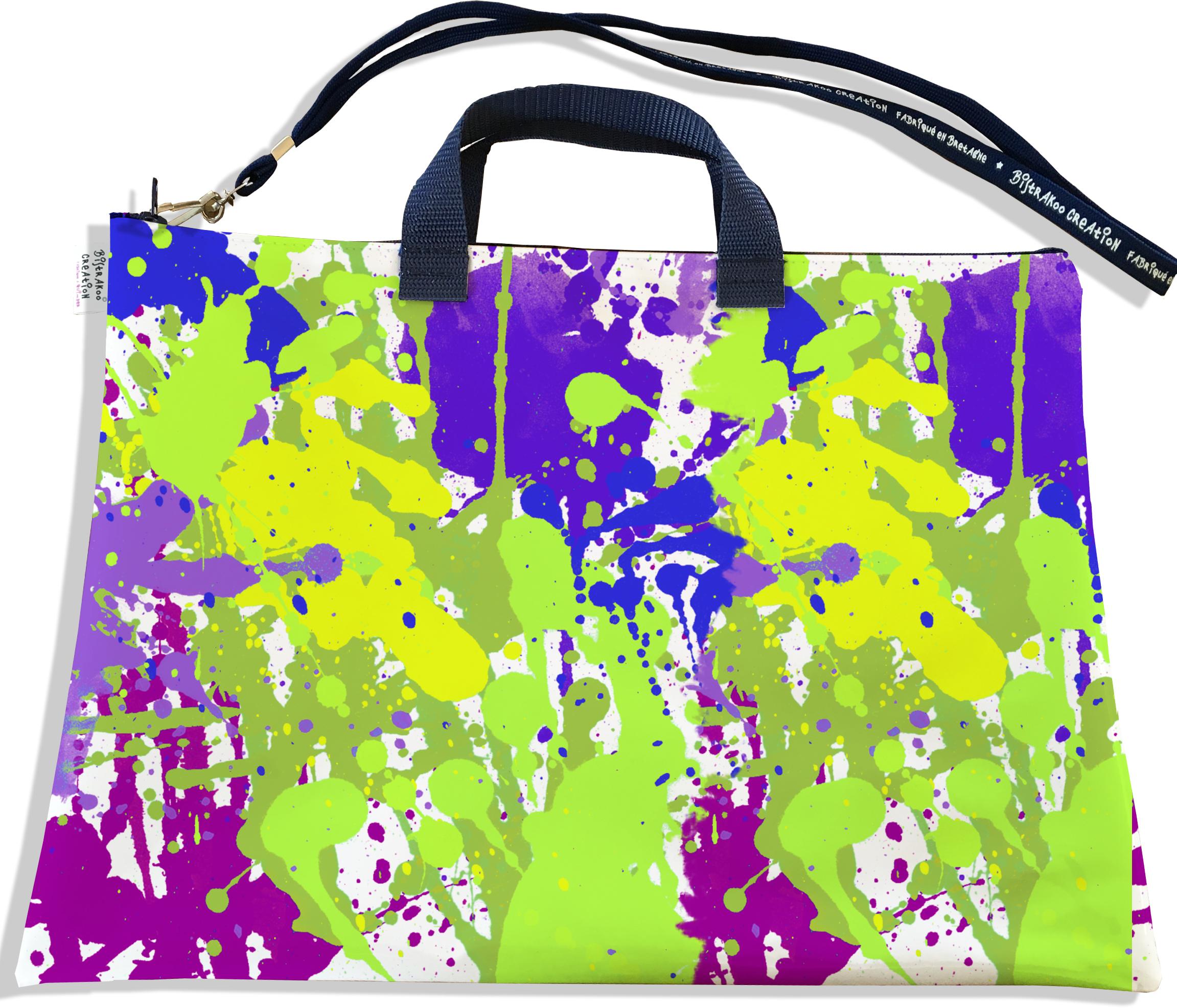 Sacoche ordinateur portable 11 & 13 pouces pour femme motif Peinture multicolore 2565