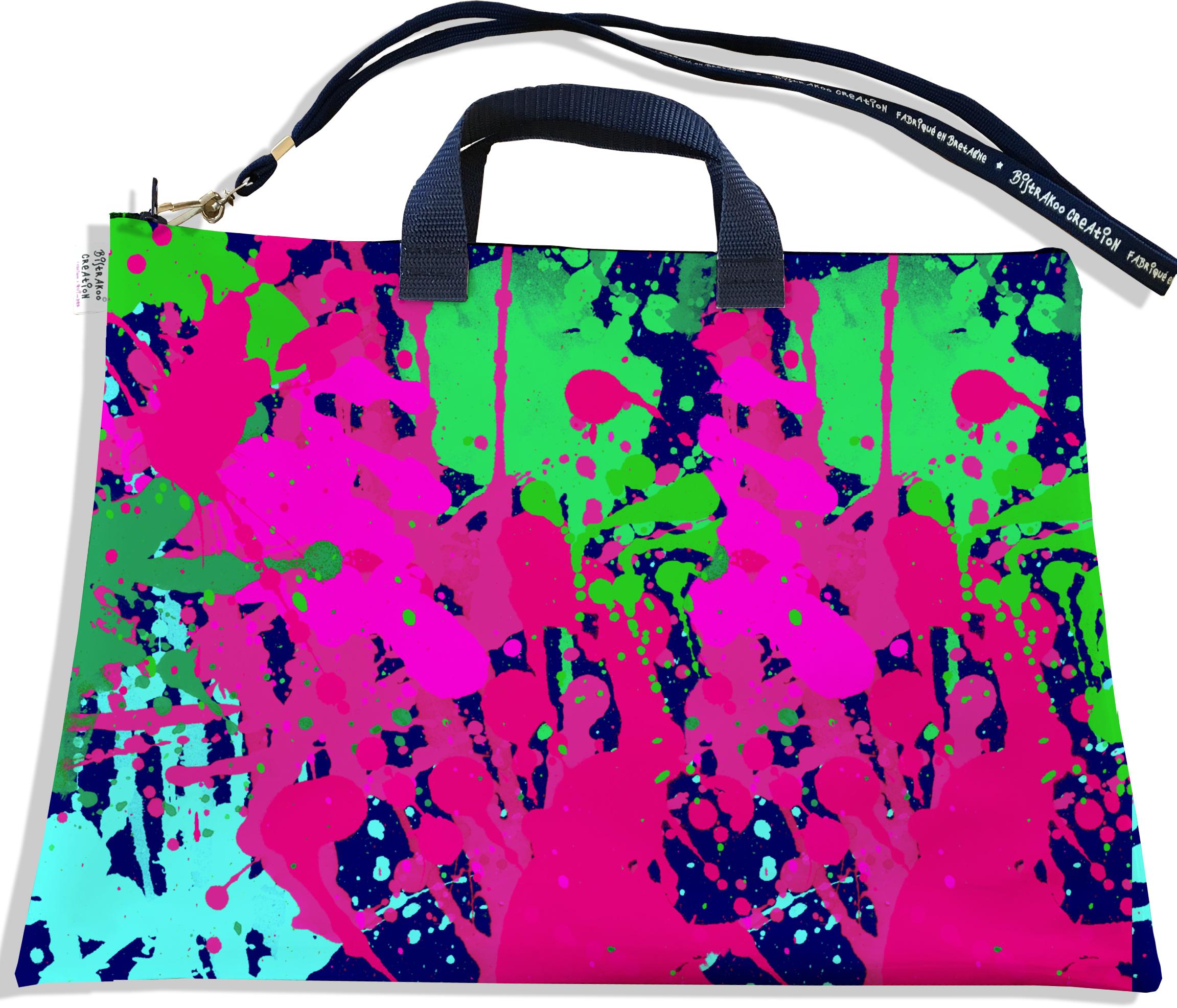 Sacoche ordinateur portable 11 & 13 pouces pour femme motif Peinture multicolore 2567
