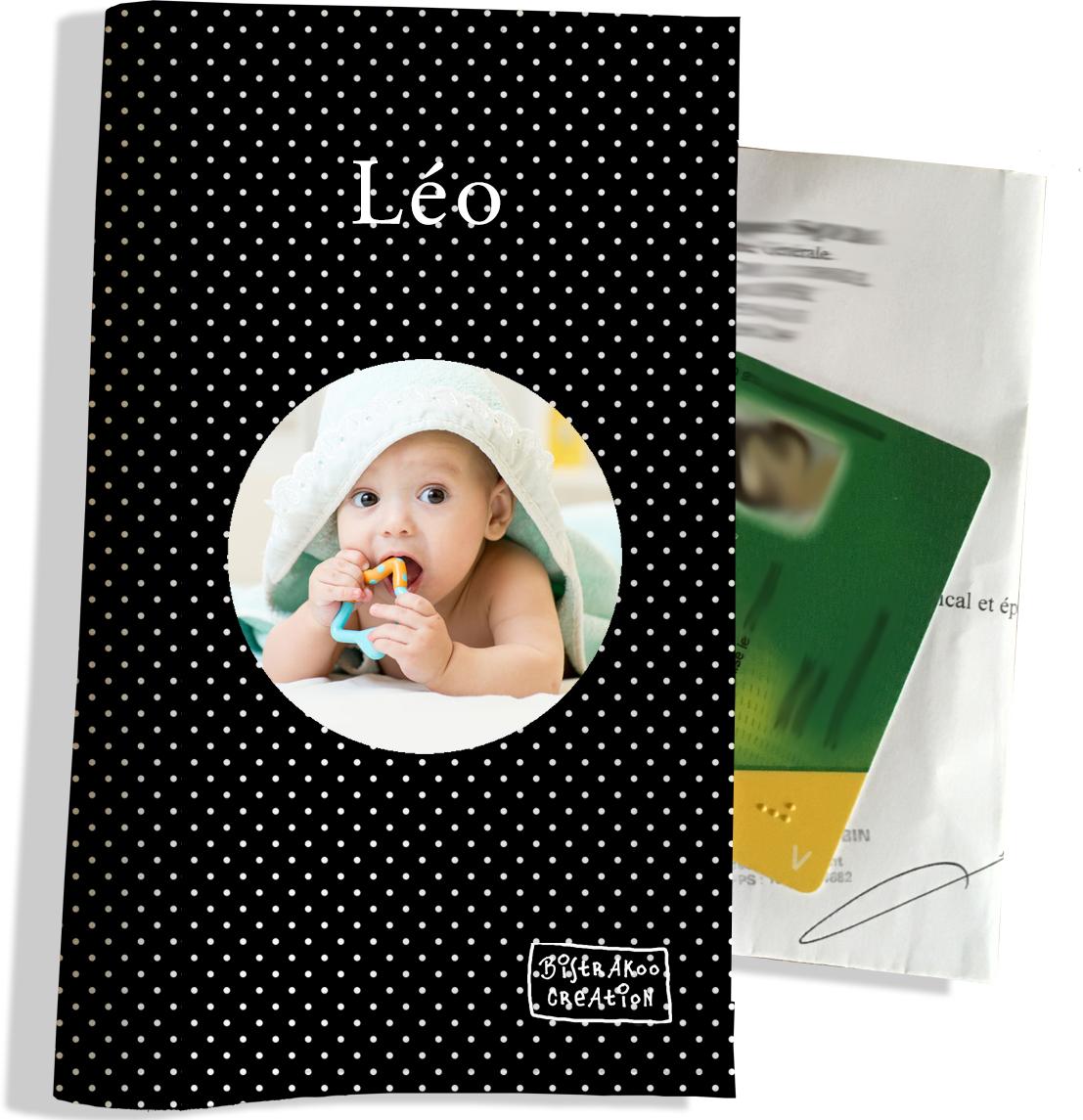 Porte ordonnance personnalisable pour bébé garçon Enfant - photo et texte de votre choix (P2066-2015-photo)