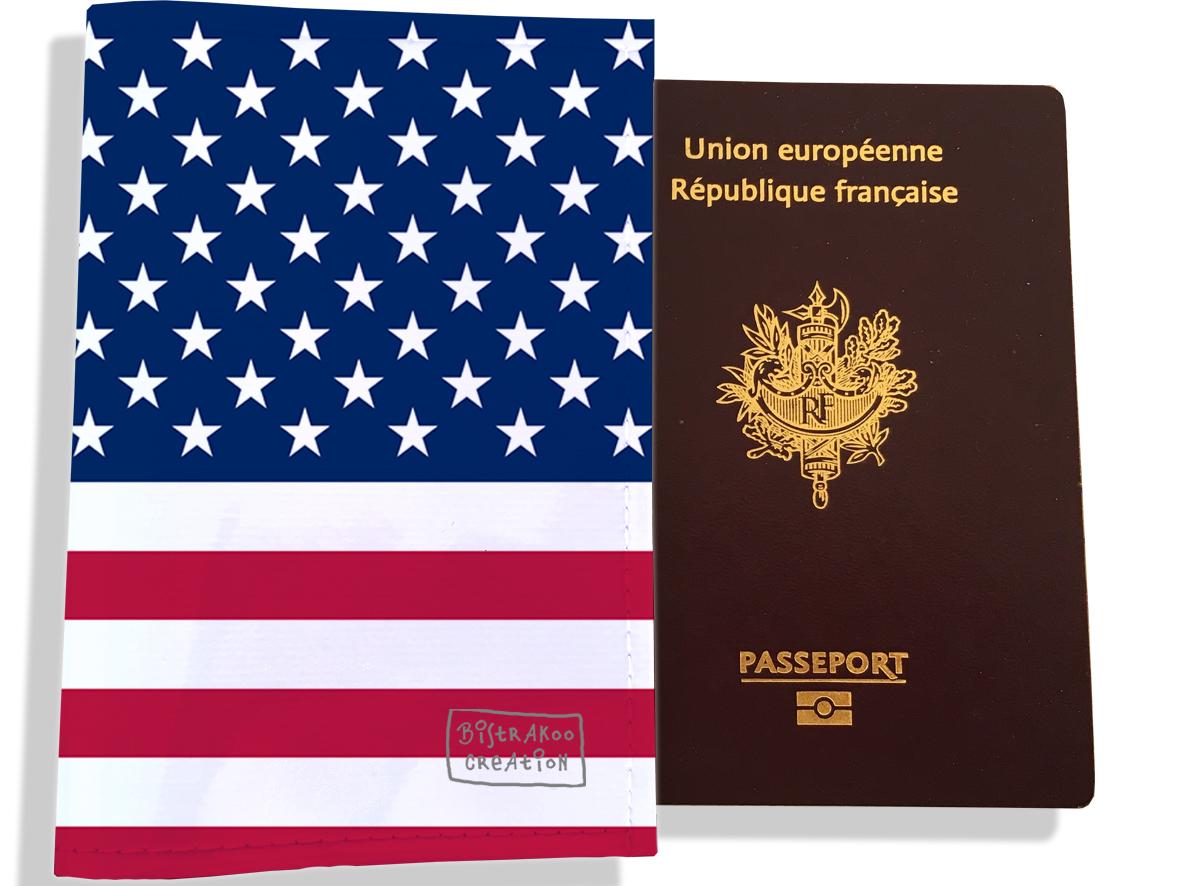 Protège passeport motif Drapeau PP1782-2019