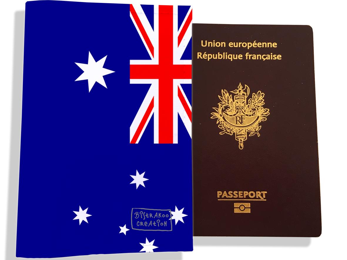 Protège passeport motif Drapeau PP1787-2019