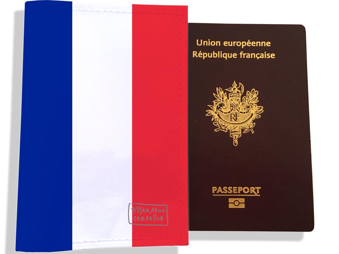 Protège passeport motif Drapeau PP1789-2019