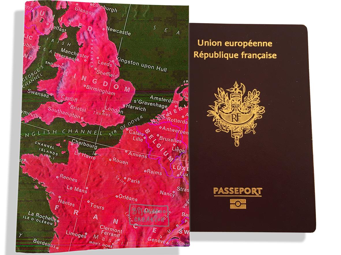 Protège passeport motif Drapeau PP1934-2019