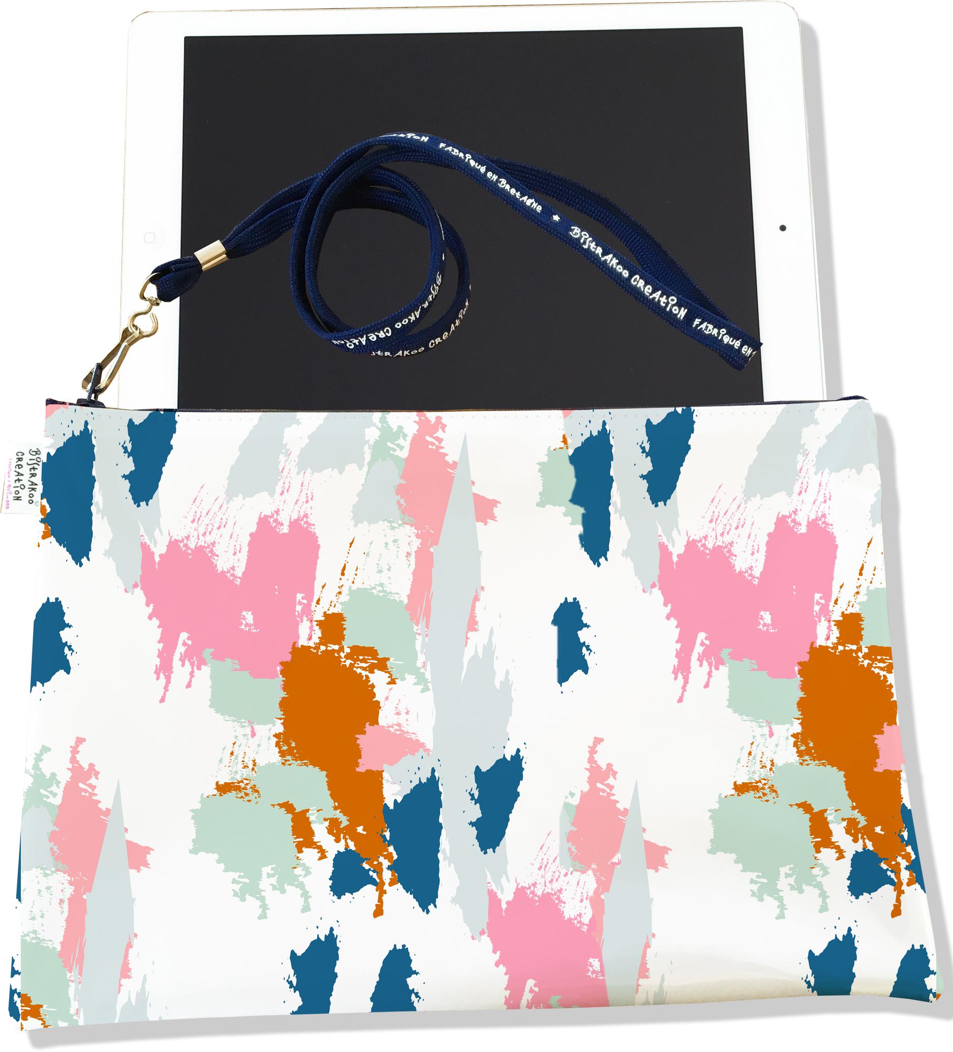 Housse pour tablette pour femme motif Taches Peinture multicolores H6013-2019