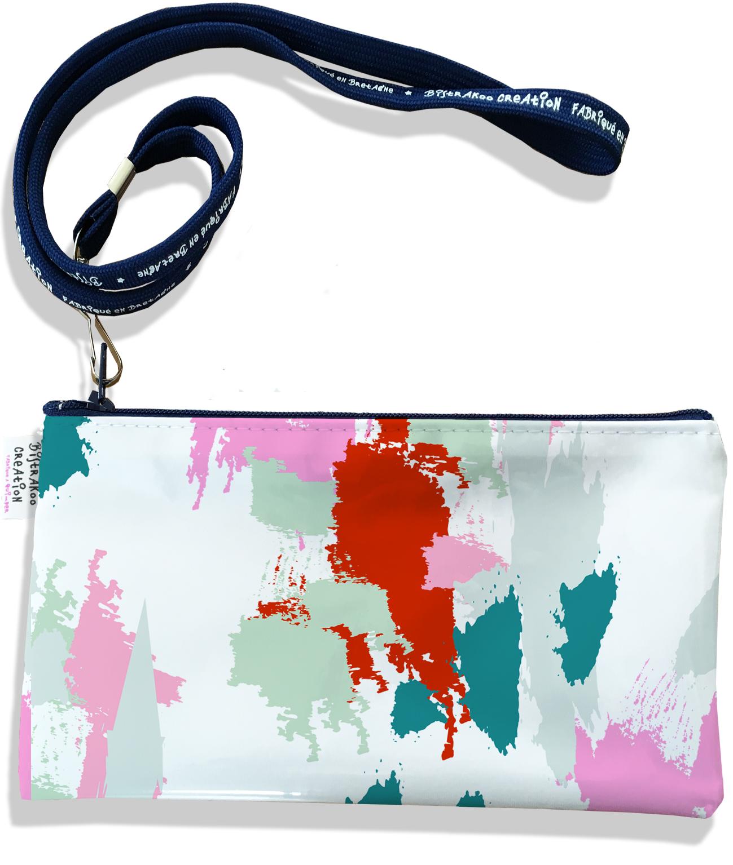 Pochette smartphone 5 & 6 pouces femme motif Taches Peinture multicolores P6001-2019