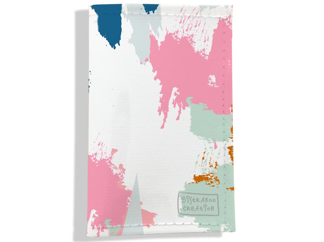 Porte carte grise, Porte carte de transport pour femme motif Taches Peinture multicolores PPV6001-2019