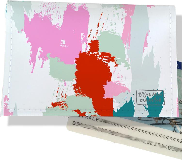 Porte-carte d\'identité pour femme motif Taches Peinture multicolores CI6001-2019
