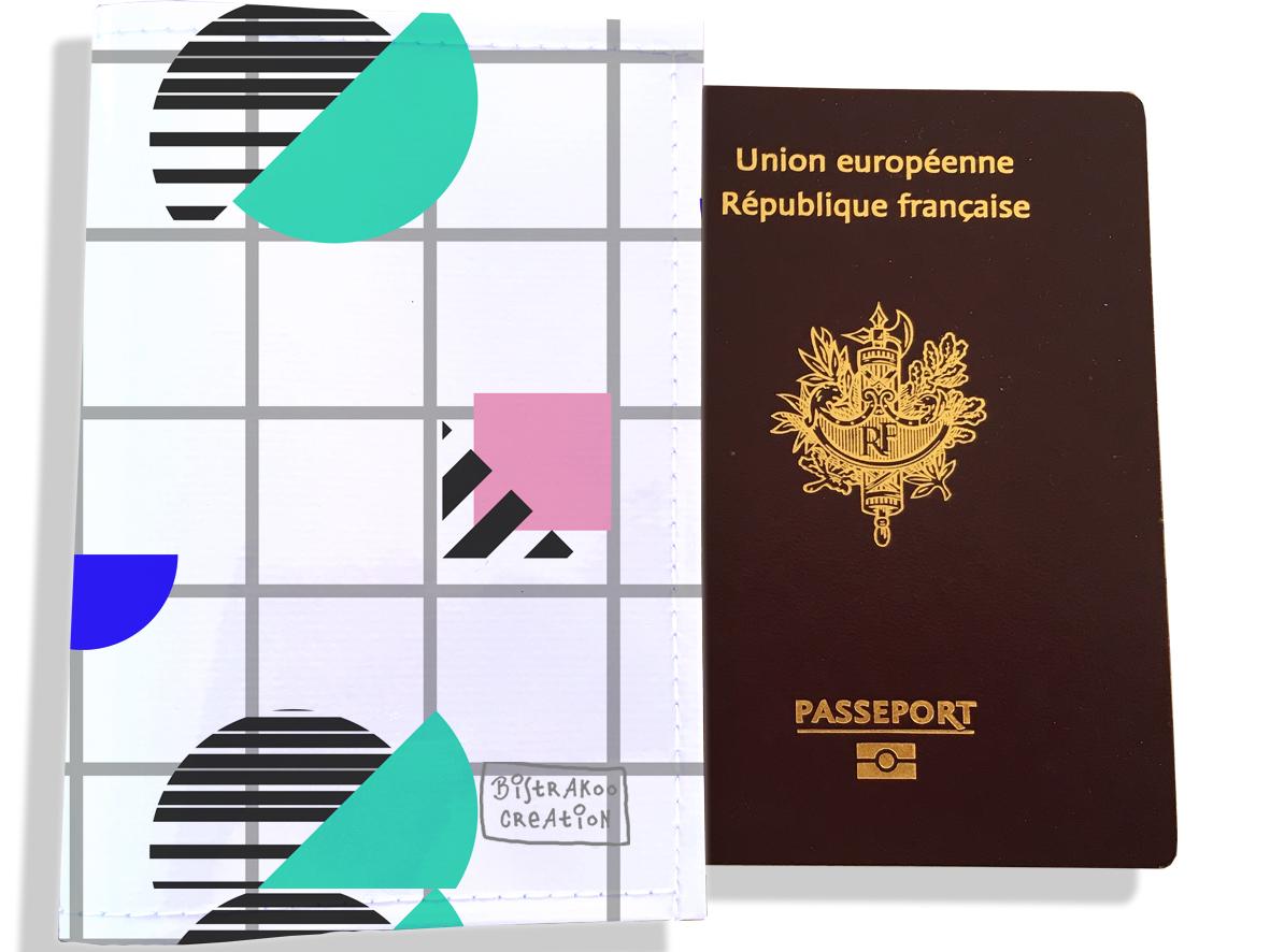 Protège passeport femme motif Graphique PP6009-2019