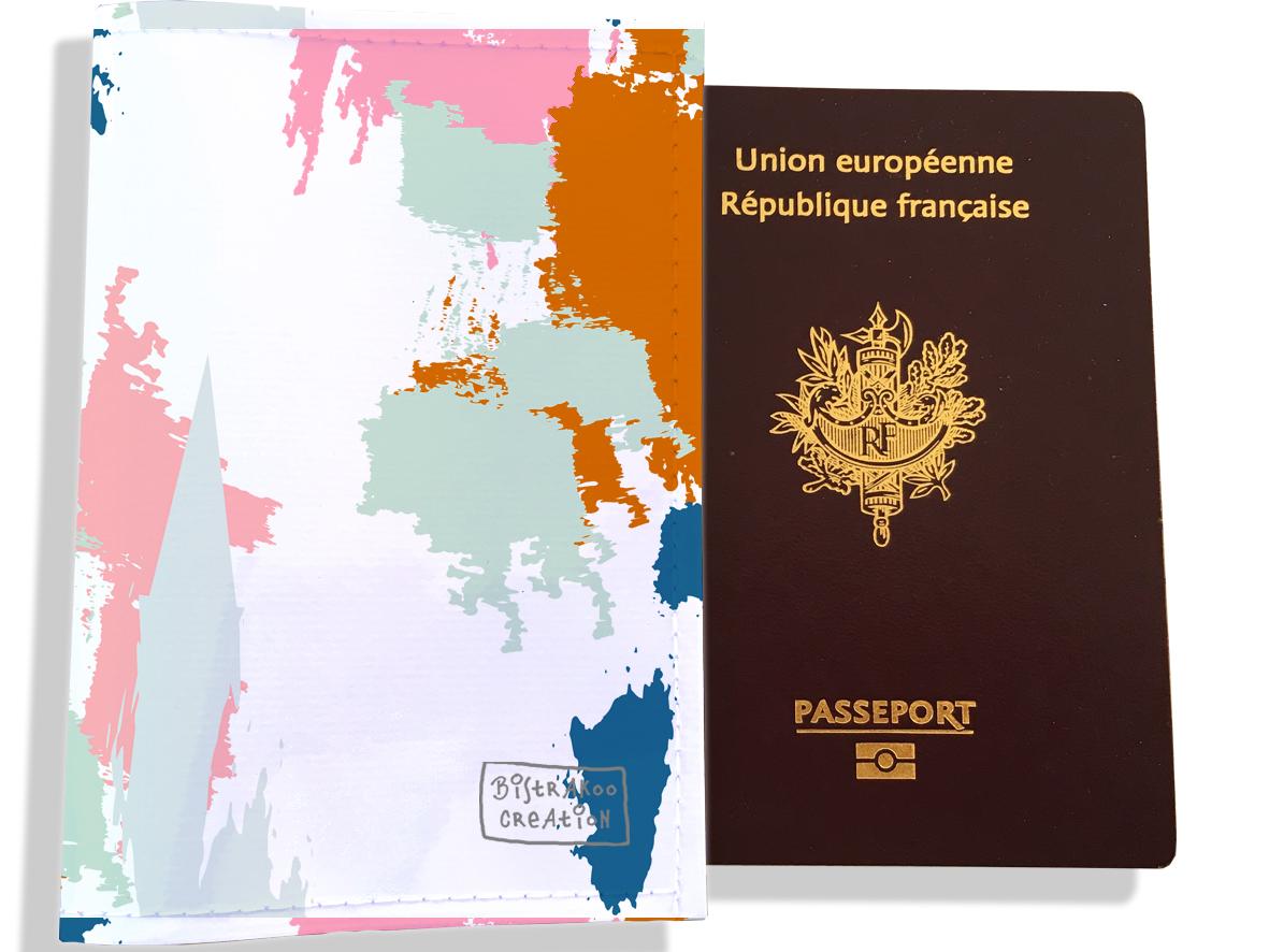 Protège passeport femme motif Taches Peinture multicolores PP6013-2019