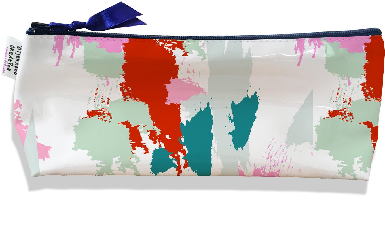 Trousse scolaire, Trousse d\'école, Trousse à Crayons ou Maquillage motif Taches Peinture multicolores TS6001-2019