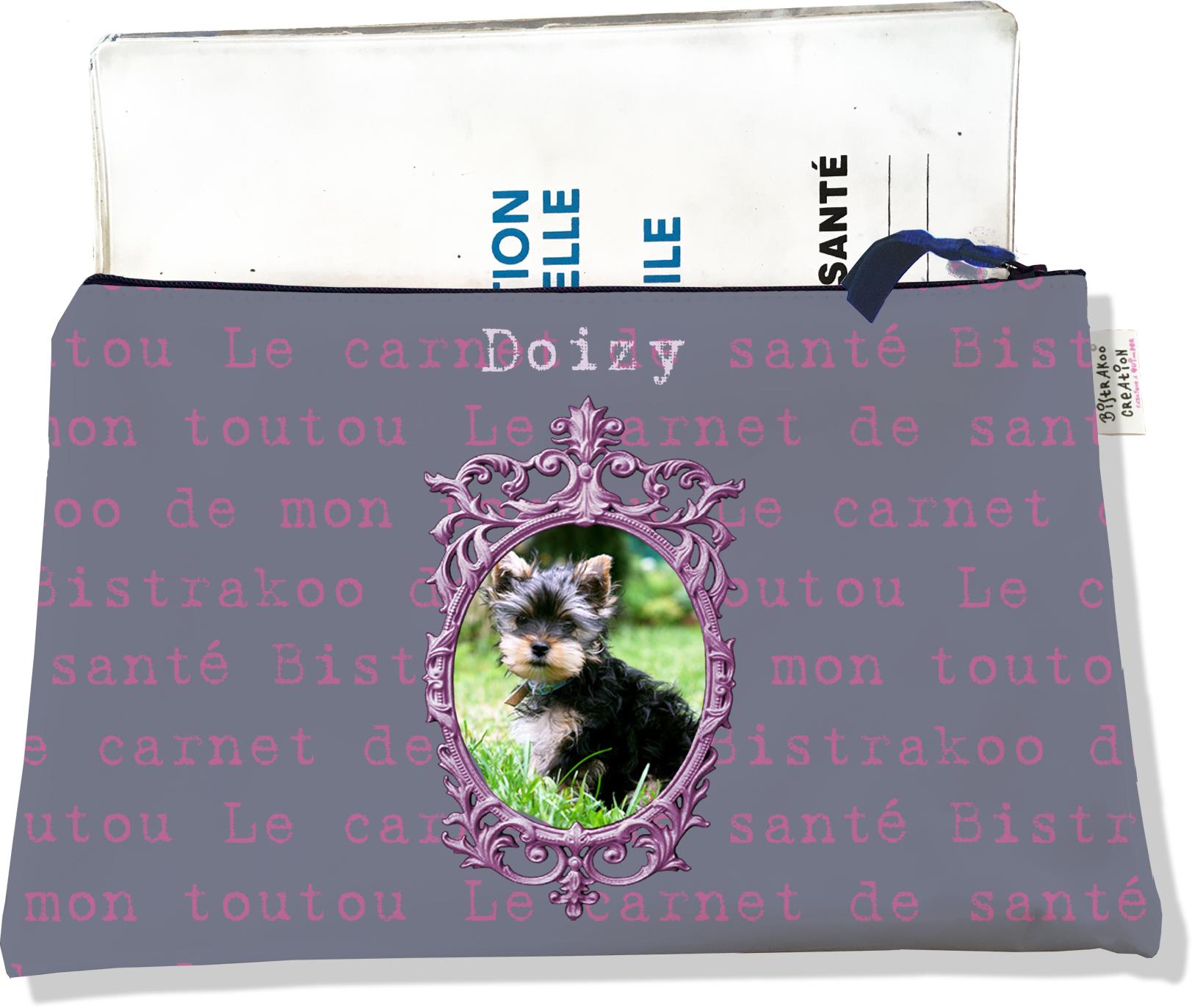 Protège Carnet de Santé personnalisable zippé pour chienne CSZ2264-2019