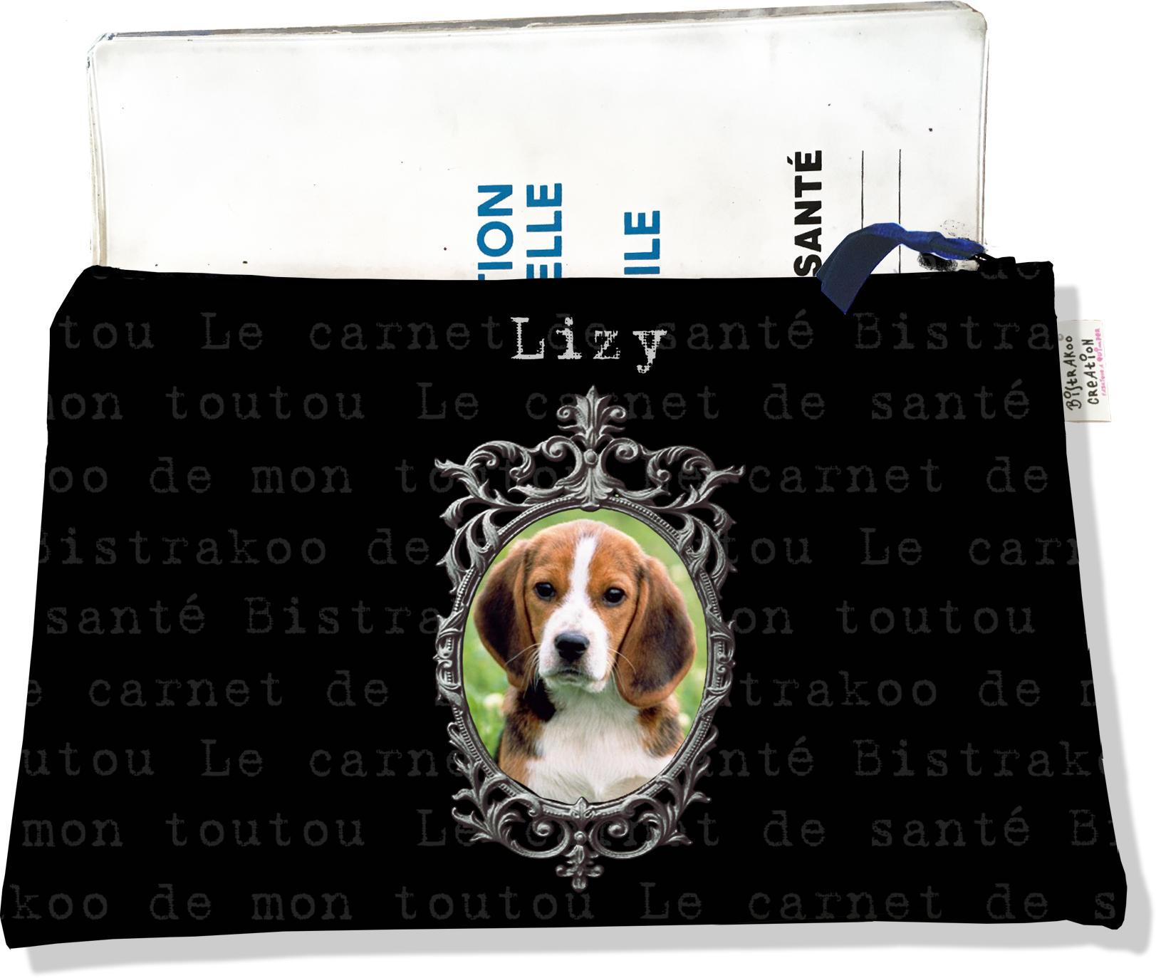 Protège Carnet de Santé personnalisable zippé pour chien CSZ2265-2019
