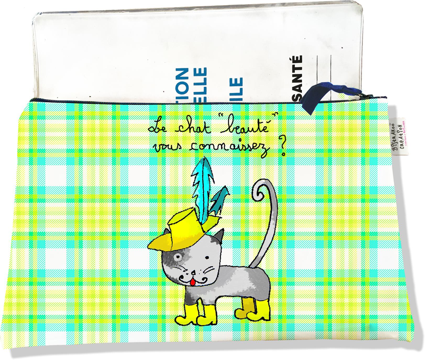 Protège Carnet de Santé zippé pour chat CSZ2201-2019