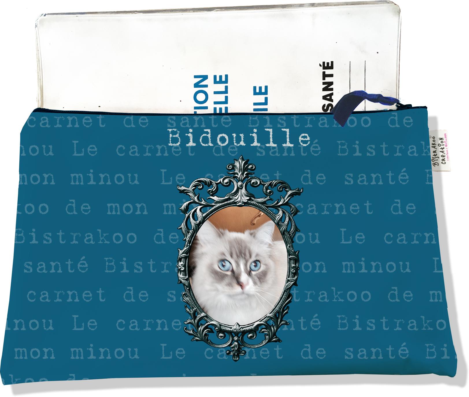 Protège Carnet de Santé personnalisable zippé pour chat CSZ2269