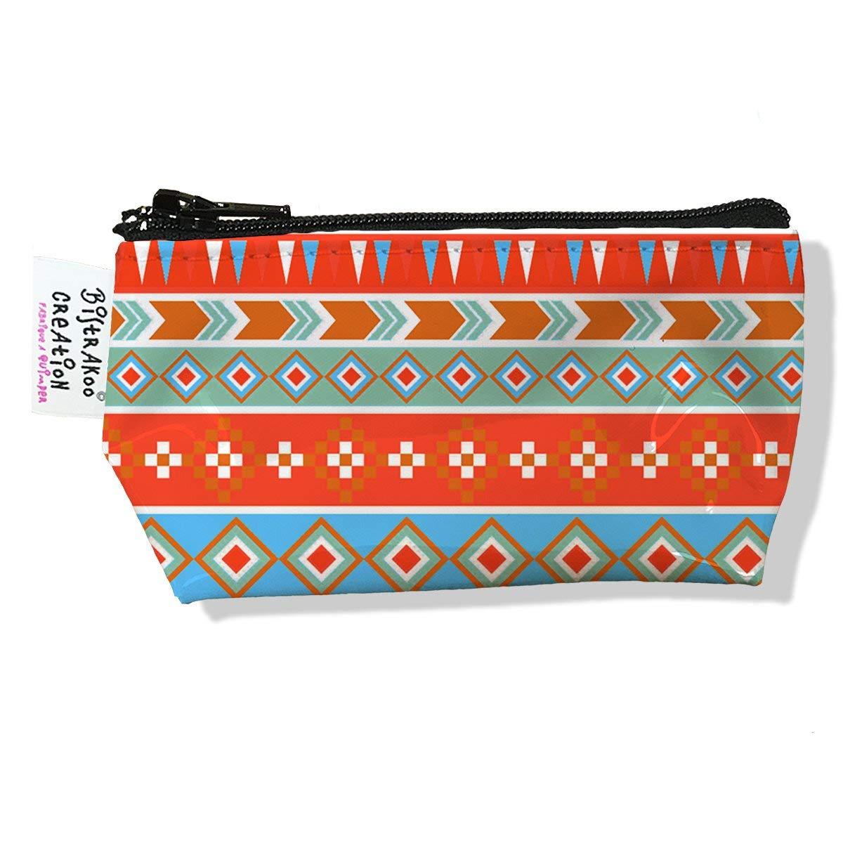 Porte monnaie bourse pour femme motif Graphique bleu et orange 2318