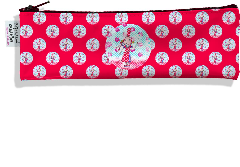 Trousse à brosse à dents motif Coloris rouge motif enfant fille D790