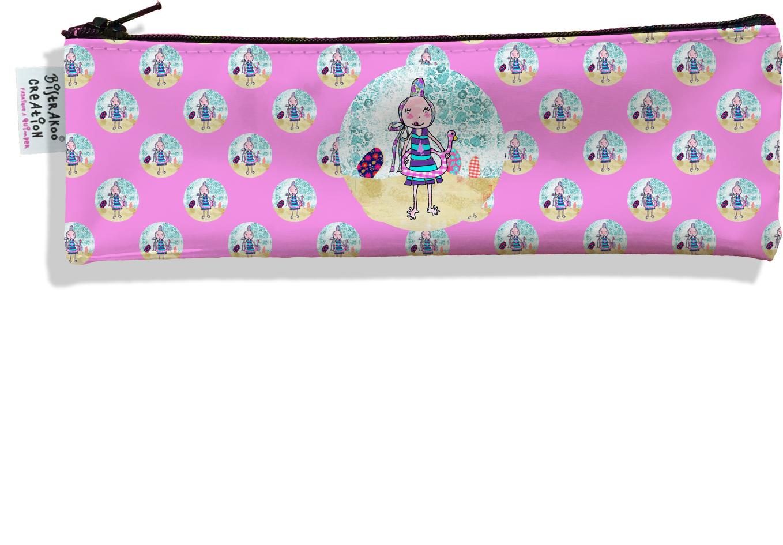 Trousse à brosse à dents motif Coloris rose motif enfant fille D797