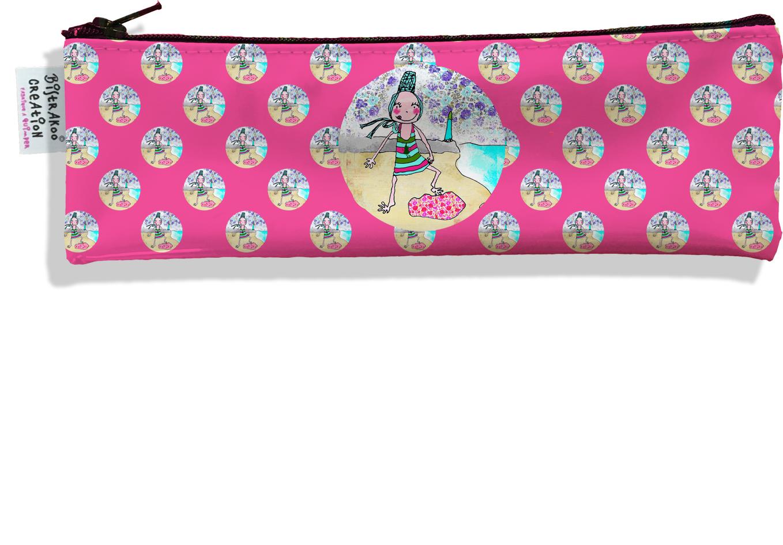 Trousse à brosse à dents motif Coloris rose motif enfant fille D795
